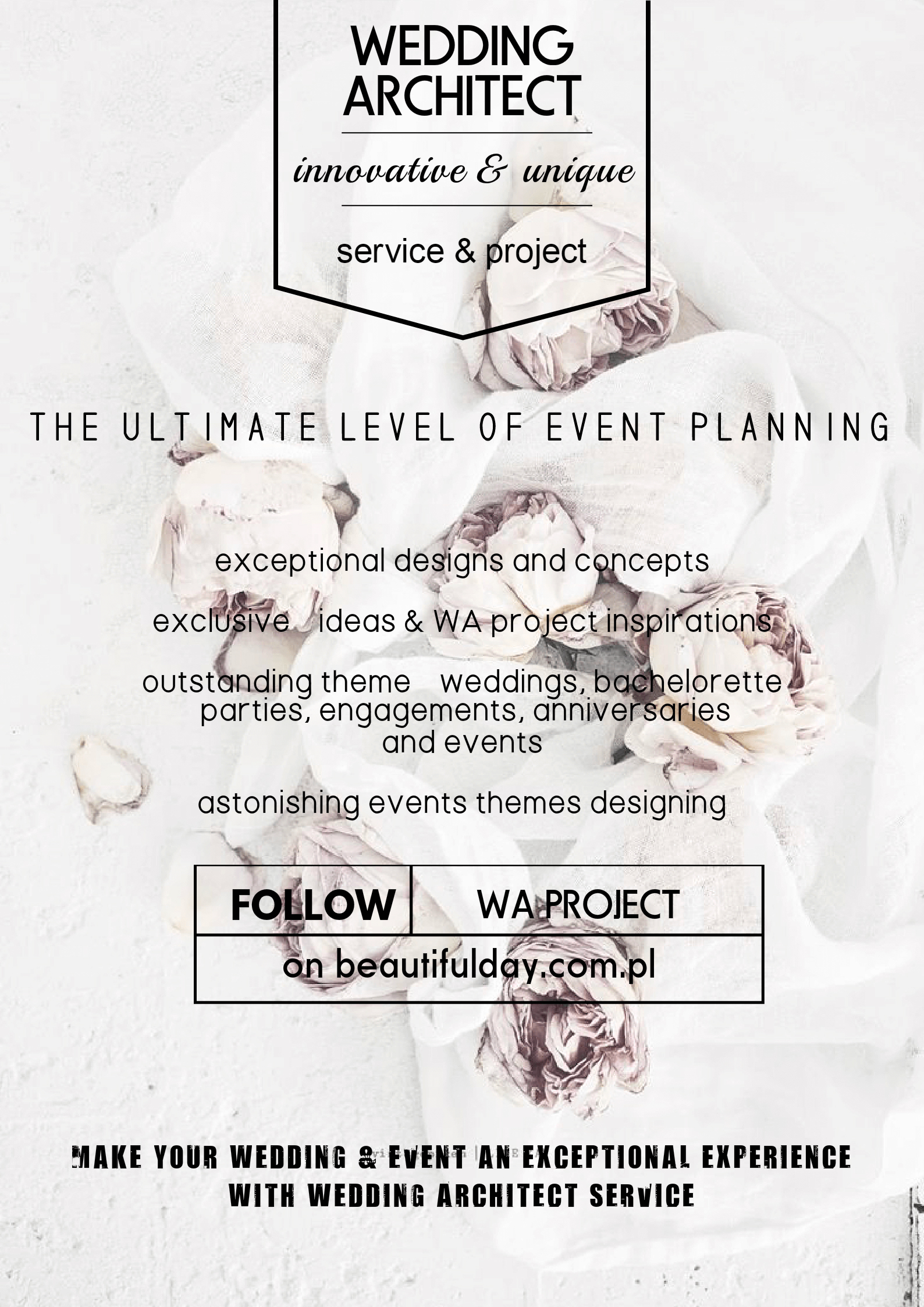 Wedding Architect - the ultimate level of event planning