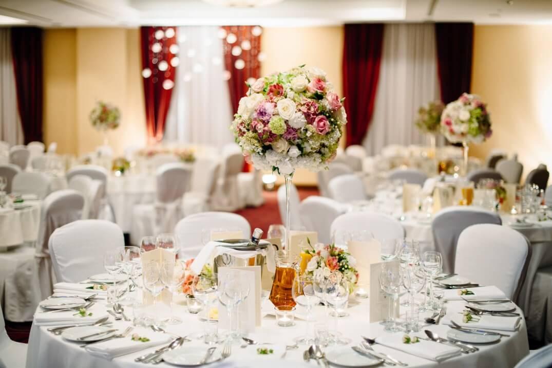 wedding table decoration high