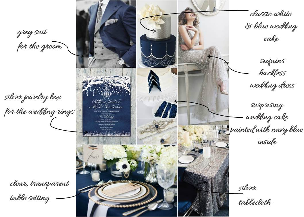 Navy blue wedding - Crystal Moonlight - Beautifulday Blog
