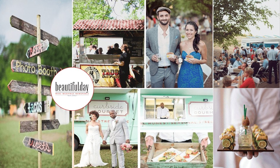Wedding food truck more than a wedding buffet for Wedding canape alternatives