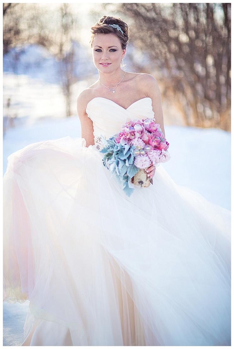 Inspirational winter wedding in Pantone 2016 wedding colors of the ...
