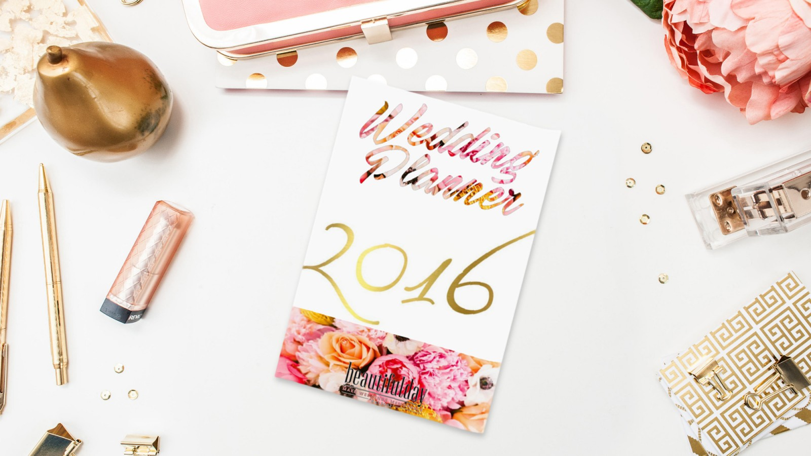 Printable,170 page, totally free Wedding Planner for 2016 to download right now!