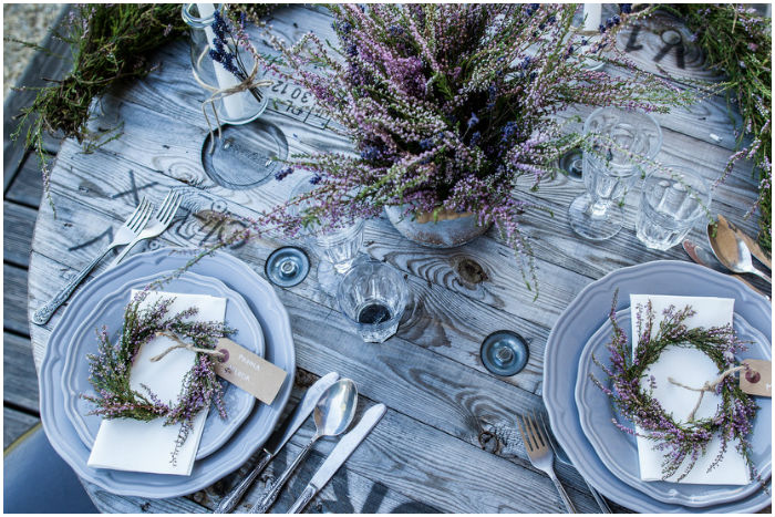 Choose your wedding style – lavender wedding