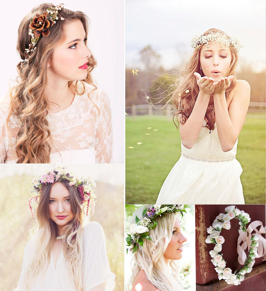 Wedding Flowers Crown For Fine Hairstyle: Wedding Trends 2016: Flower Crowns