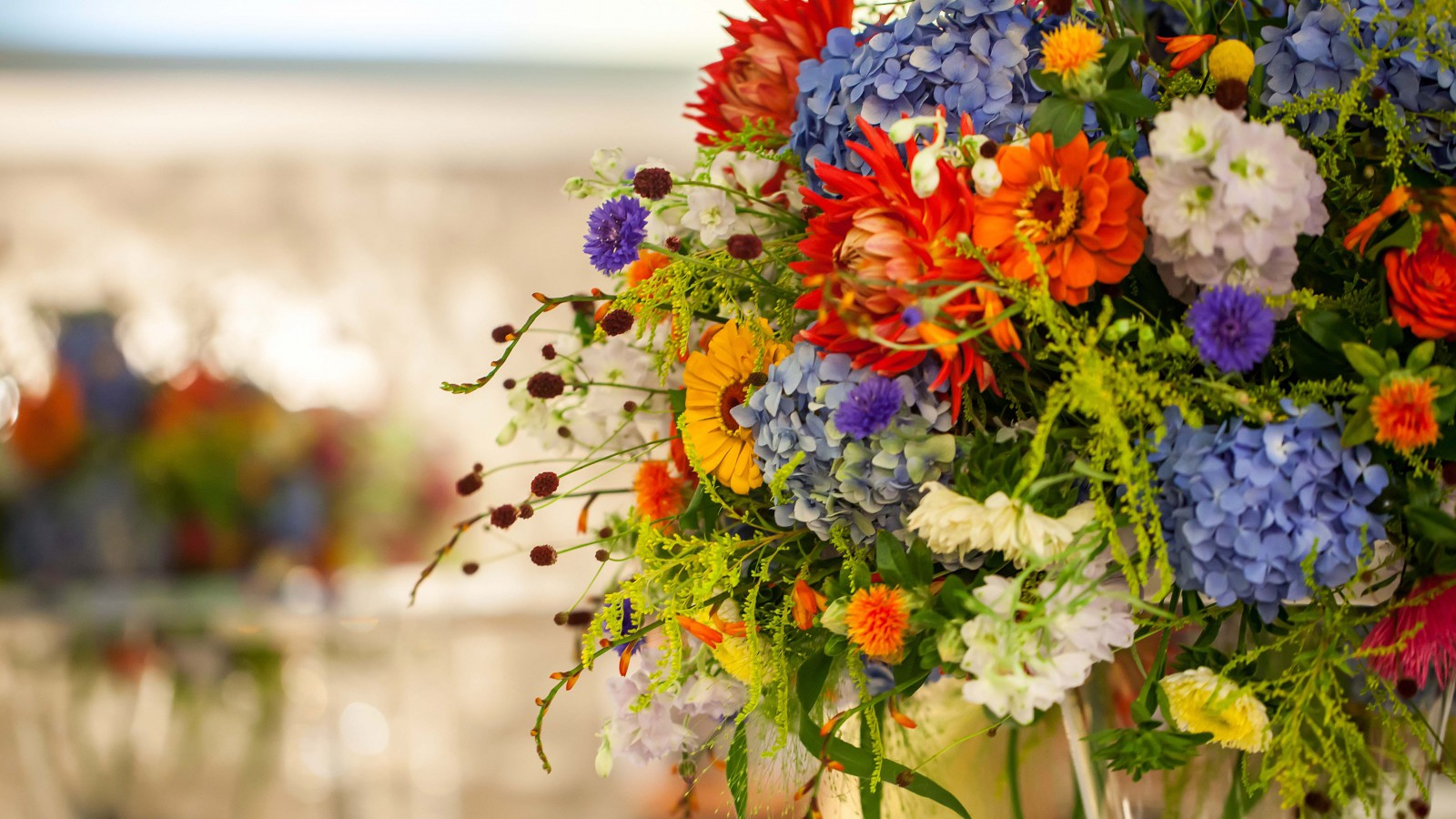 Seasonal Flowers Summer Wedding In Poland