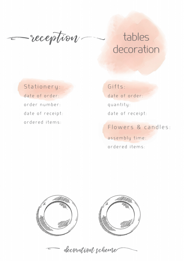 wedding planner 2018table decor